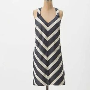 Anthro Postmark Endpoint Striped Shift Dress